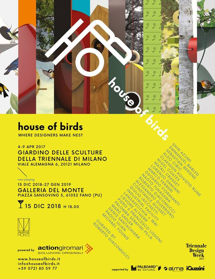 Mostra House of Birds - when designers make nest