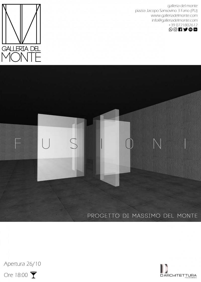Fusioni , installazione di Massimo Del Monte